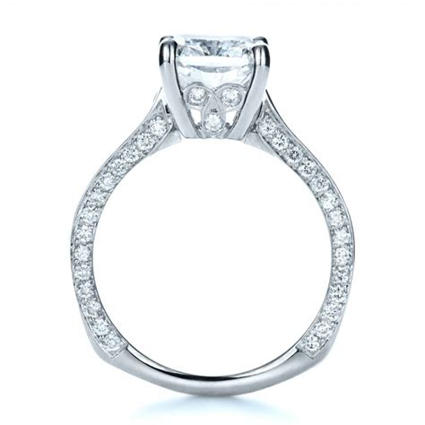 custom radiant cut engagement ring 1317