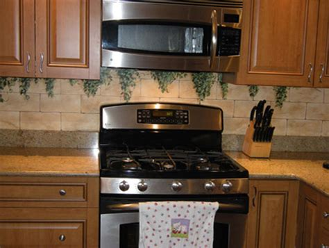 painted kitchen backsplash ideas painted kitchen backsplash painted kitchen backsplashes debbie cerone
