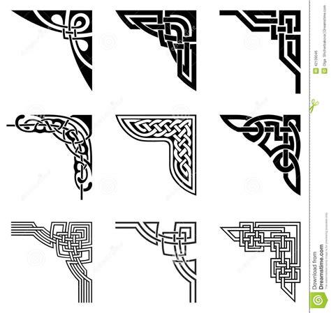 celtic pattern fonts celtic corners set download from over 52 million high