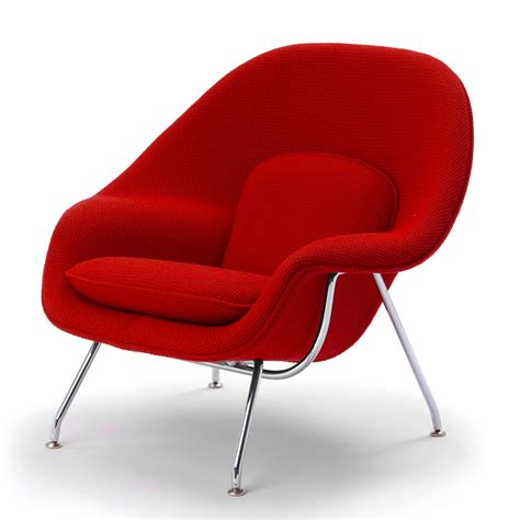 The Womb Chair by Saarinen Womb Chair And Ottoman Knoll