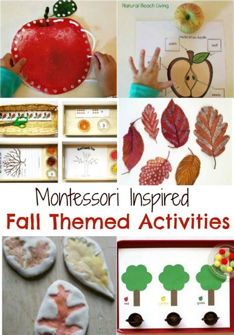 fabulous themed fall montessori activities nature for kids and crafts for kids