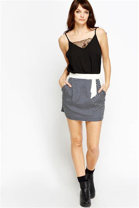 Mini Dress Navy Polka polka dot mini skirt navy just 163 5