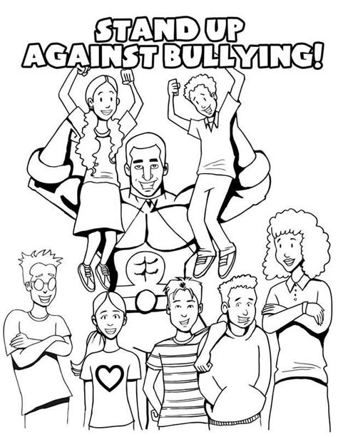 Stop Bullying Coloring Pages stop bullying coloring pages coloring home