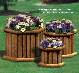 yard garden projects landscape timber planter trio