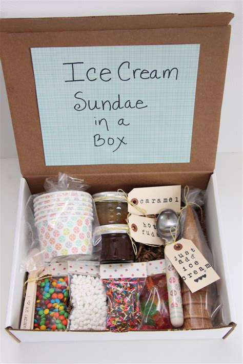 gifts ideas ice cream sundae in a box gift idea smashed peas carrots