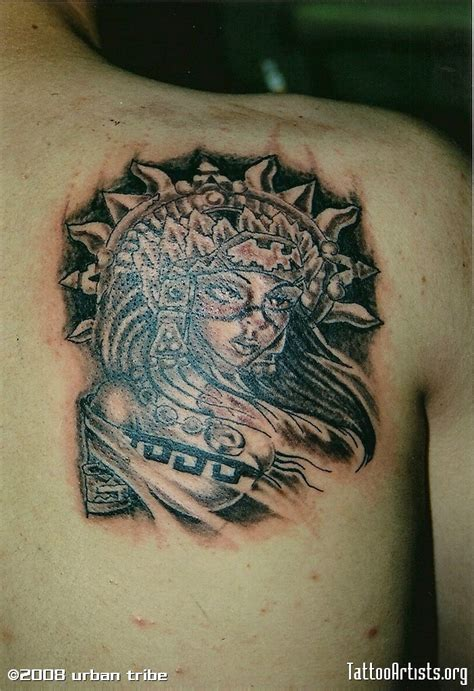 aztec girl tattoo aztec tattoos pictures to pin on pinsdaddy