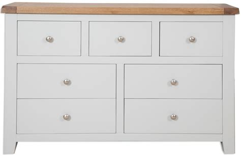 Bedroom Drawers Perth Buy Perth Grey Chest Of Drawer Wide 7 Drawer