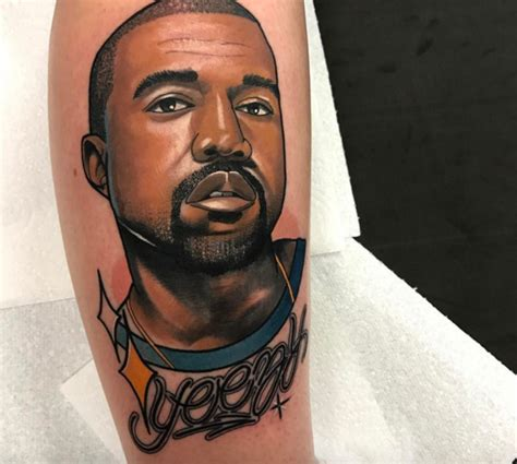 kanye west tattoos kanye west the best and worst fan tattoos zimbio