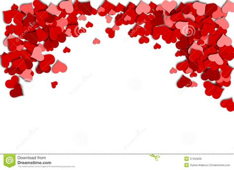 imagenes en blanco y rojo de amor frame of red hearts on a white background for a valentine