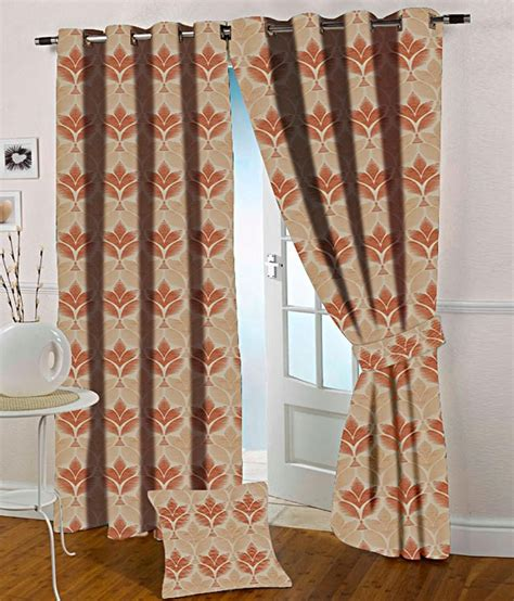 orange and beige curtains presto orange and beige abstract polyester door curtain