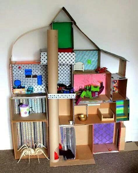 home made doll house homemade dollhouse art and craft pinterest