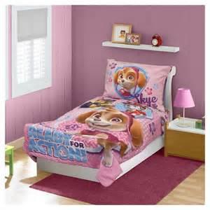 Toddler Bedroom Sets Target Paw Patrol 4 Pc Toddler Bed Set Pink