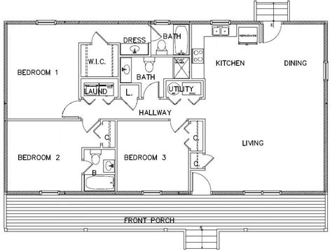 3 bedroom cabin plans three bedroom floor plans