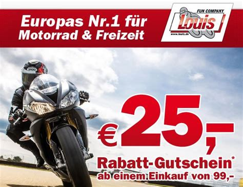 Motorrad Kaufen Rabatt by 25 Gutschein Louis Motorrad Ebay