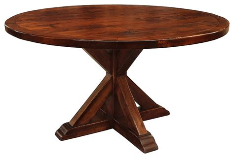 seth recycled wooden dining table chestnut 60