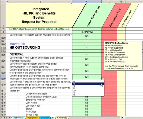 Hr Payroll Outsourcing Rfp Evaluation Selection Hr Outsourcing Template