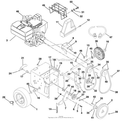 ariens snowblower parts diagram ariens 932101 000101 st824 8hp tec 24 quot blower