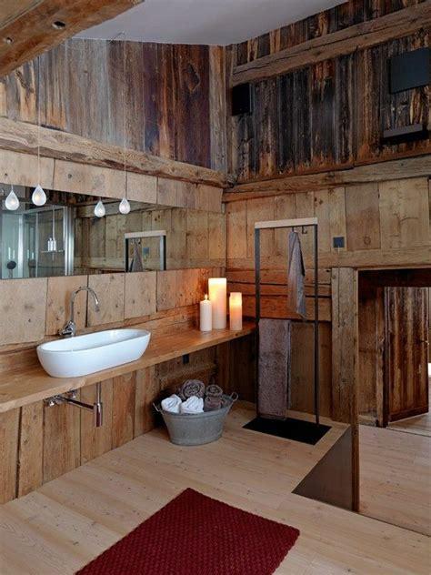 badezimmer holz rustikale badezimmer holz waschbecken kerzen idee pictures