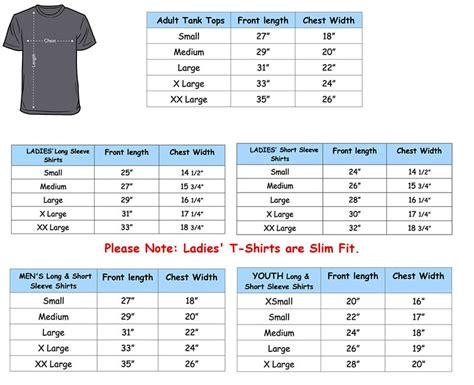 size t shirt template t shirt size chart template macri s 3 4 sleeve