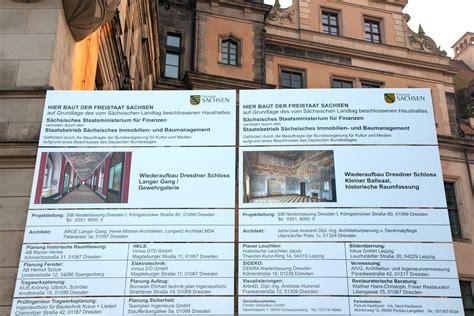 Bauschild Freistaat Sachsen by Zwischenstand Vom Bauen In Der Dresdner Altstadt Im