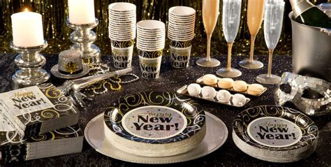 new year supplier sparkling new year theme decorations tableware