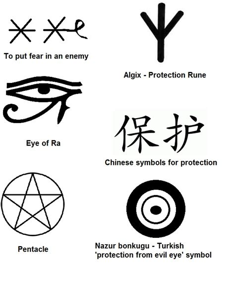 protector tattoos protection symbols against evil spirits protection