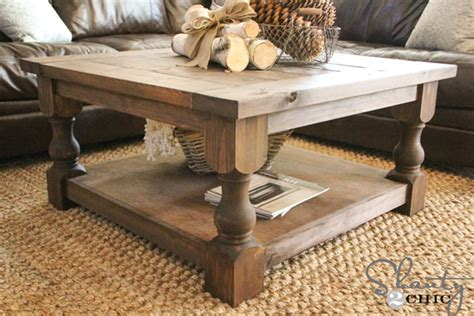 white corona coffee table square diy projects