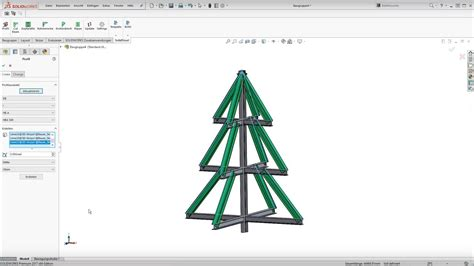 xmas tree structure structural steel design with solidworks solidsteel parametric quot the tree quot teaser