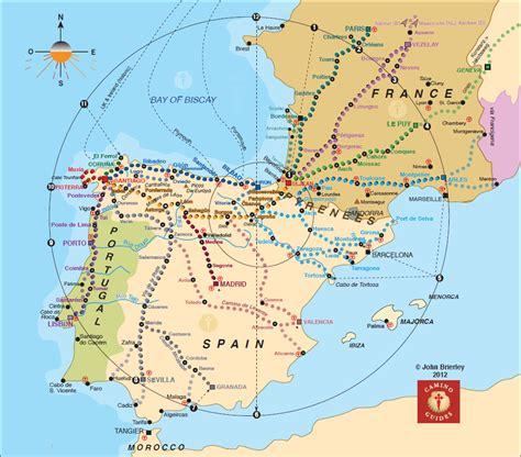 el camino map map of trail to camino el camino de santiago map worth