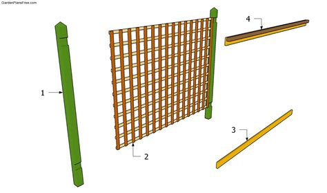 trellis plan wood trellis plans free woodproject