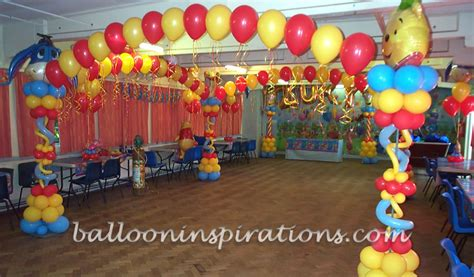birthday themes with balloons pooh bear birthday party decorations