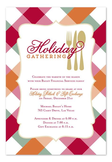 holiday potluck holiday invitations by invitation