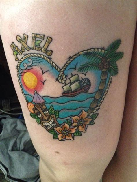 tropical tattoo 109 best tropical tattoos images on