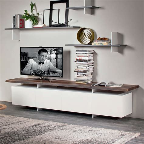 porta tv cattelan porta tv seneca di cattelan con piano in legno arredaclick
