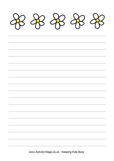 lined paper with plant border 9 best images of free printable spring writing paper