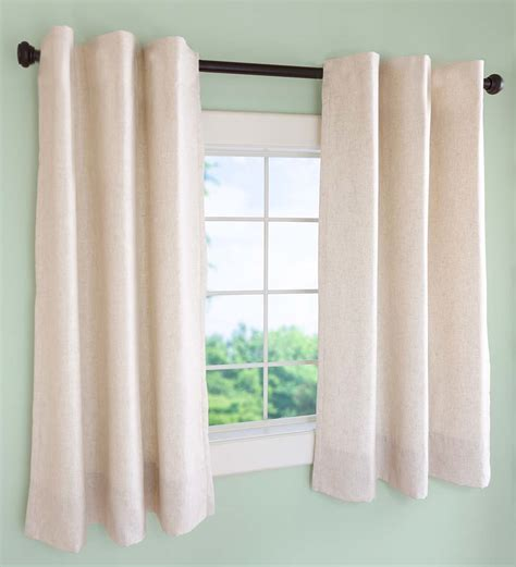 short tab top curtains insulated short curtain panels tab top 40 quot w x 45 l ebay