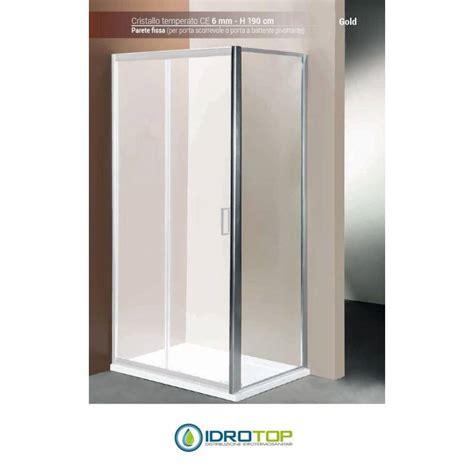 box doccia parete fissa box doccia parete fissa 80 cristallo trasparente 6mm