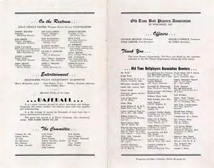 borchert field 1953 old time ballplayers banquet program