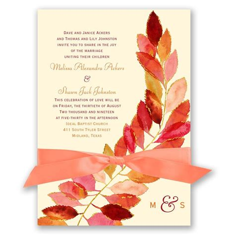 Wedding Invitations In by Feathered Fall Invitation Invitations By