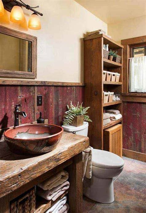 rustic bathroom walls 30 inspiring rustic bathroom ideas for cozy home amazing