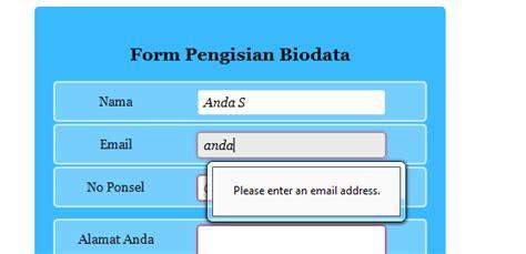 kode html membuat form biodata membuat form formulir biodata dengan css 3 dan html 5