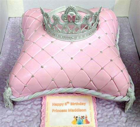 Pink And Blue Baby Shower by Pink Princess Cushion Tiara Cake Nouveauxcakes