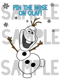 printable olaf without nose pin the nose on olaf game printable