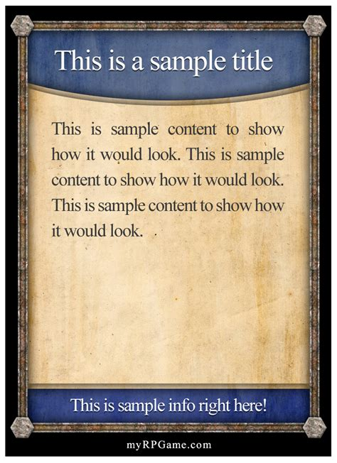 Rpg Card Template by Dungeon Madness Cards By Thadeousc Weem
