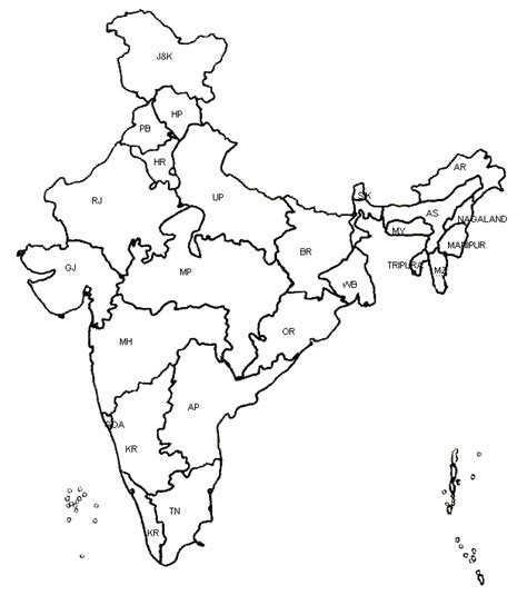 India Political Map Outline With States by Free Coloring Pages Of India Political Outline