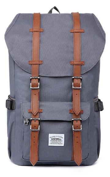 Backpack Retro ᐅ kaukko retro rucksack grau vintage rucksack