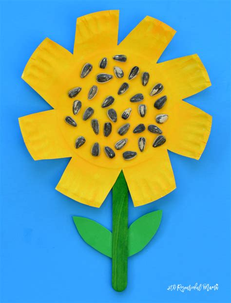 Paper Plate Sunflower Craft - paper plate sunflower craft the resourceful
