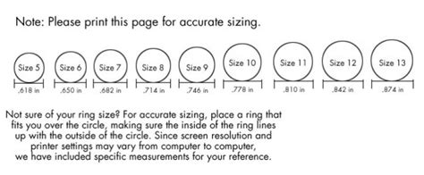printable ladies ring sizer womens ring size chart printable printable maps