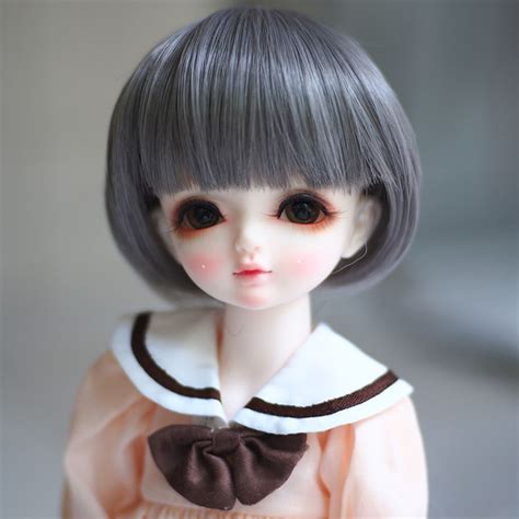 1 3 1 4 1 6 Bjd Wig Heat Resistant Curly newest 1 3 1 4 1 6 bjd wig high temperature lovely grey doll wig msd sd bjd hair
