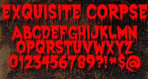 dafont halloween exquisite corpse font dafont com